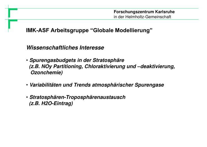 "IMK-ASF Arbeitsgruppe ""Globale Modellierung"""