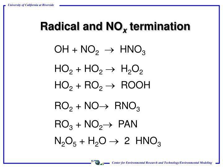 Radical and NO