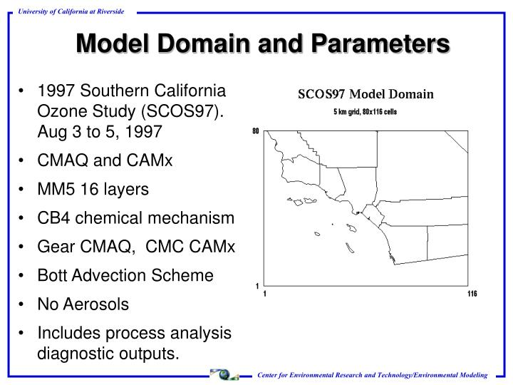 Model Domain and Parameters