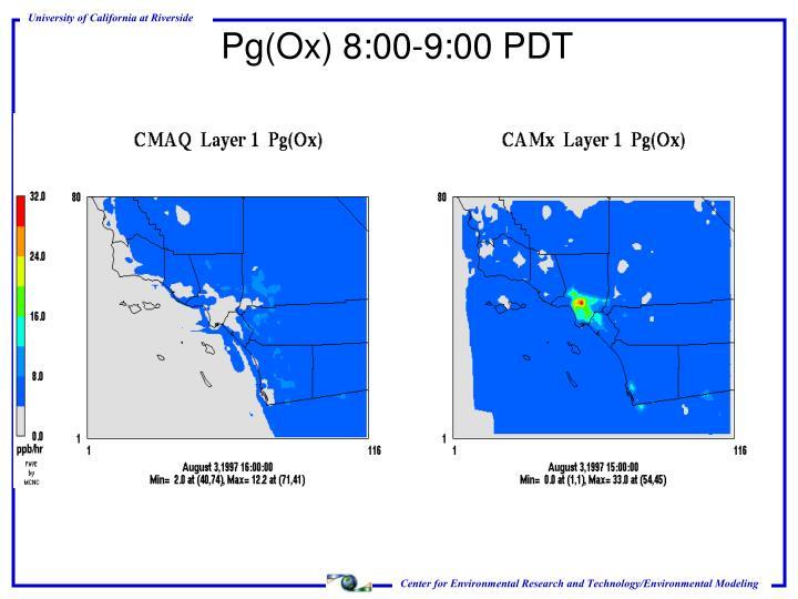 Pg(Ox) 8:00-9:00 PDT