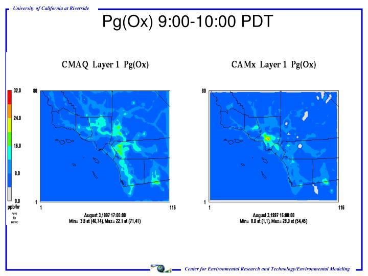 Pg(Ox) 9:00-10:00 PDT