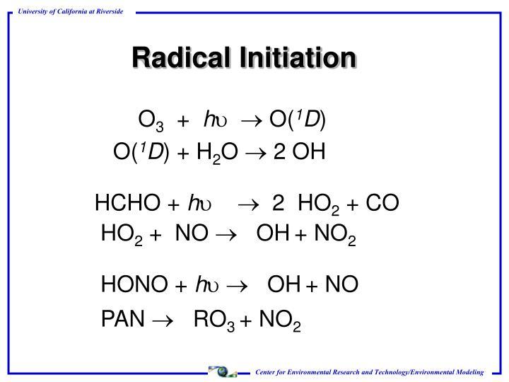 Radical Initiation