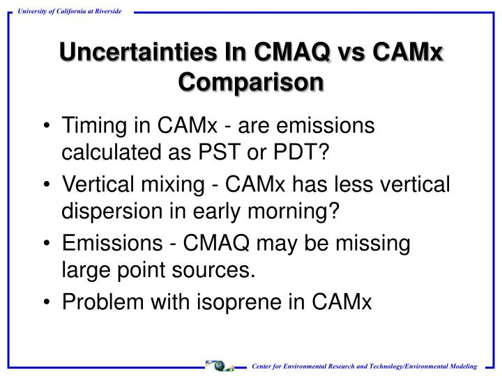 Timing in CAMx - are emissions calculated as PST or PDT?