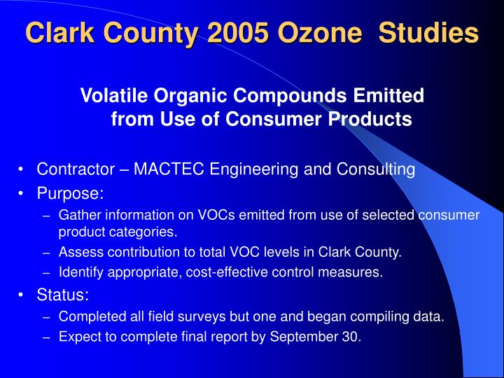 Volatile Organic Compounds Emitted