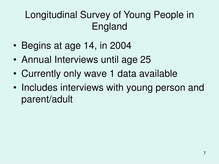 Longitudinal Survey of Young People in England