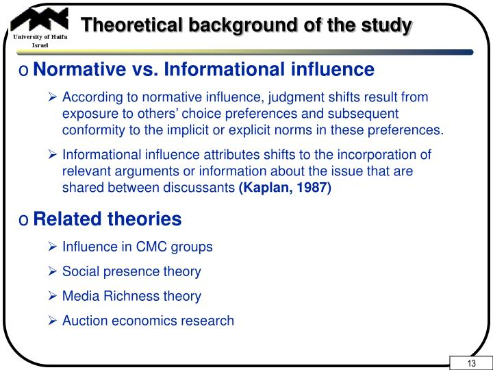 Theoretical background of the study