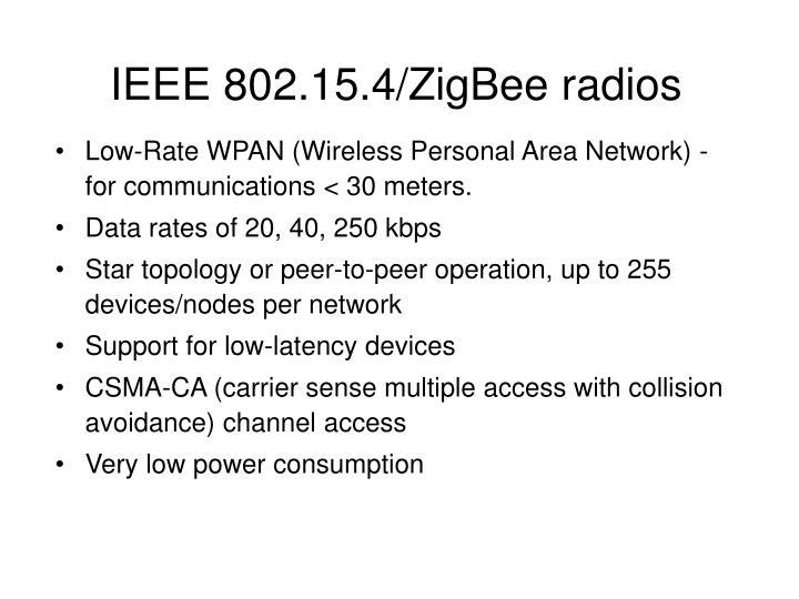 IEEE 802.15.4/ZigBee radios