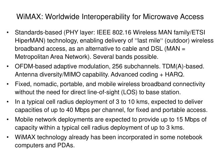 WiMAX: