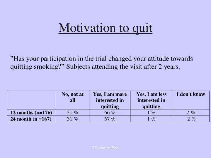 Motivation to quit