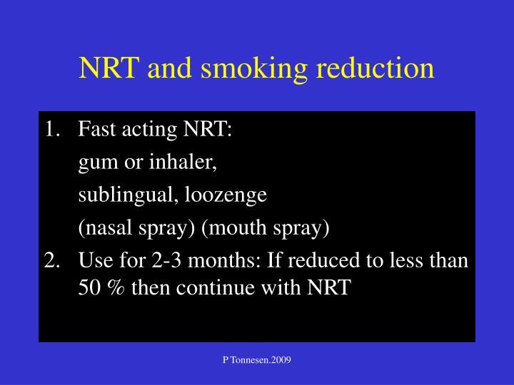 NRT and smoking reduction