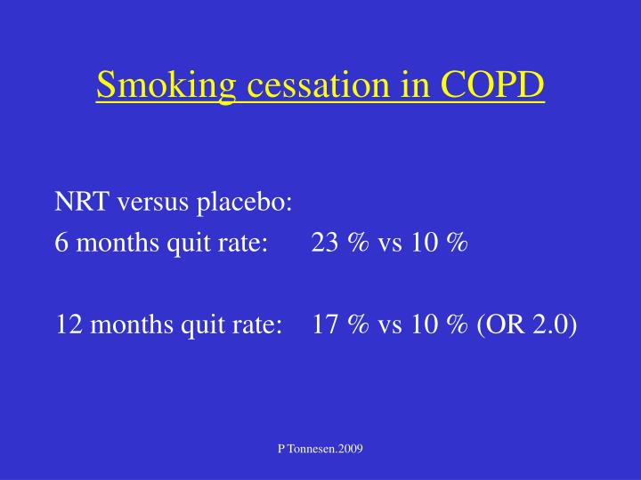 Smoking cessation in COPD