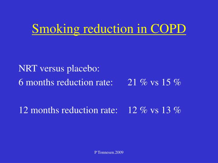 Smoking reduction in COPD