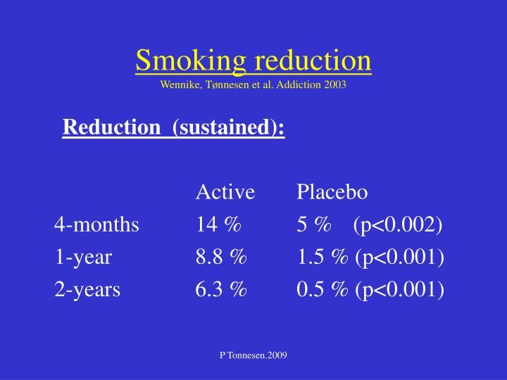 Smoking reduction