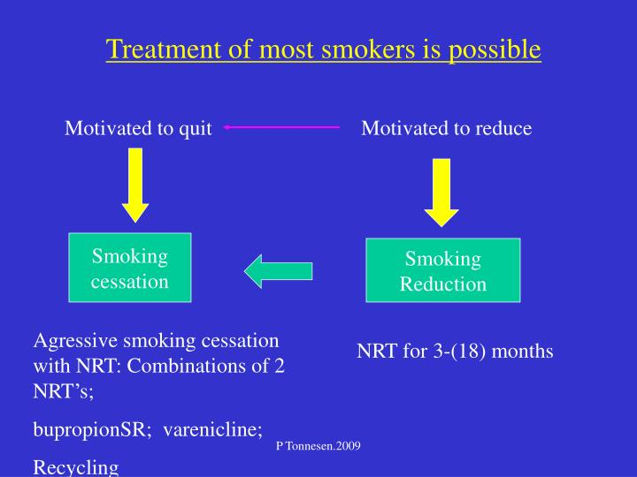 Treatment of most smokers is possible