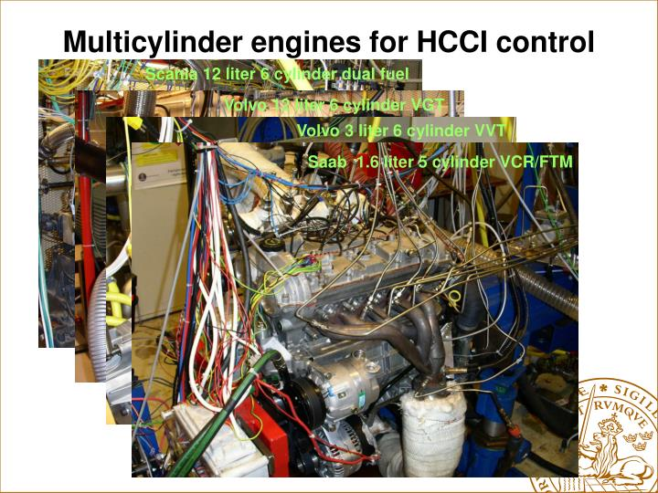 Multicylinder engines for HCCI control