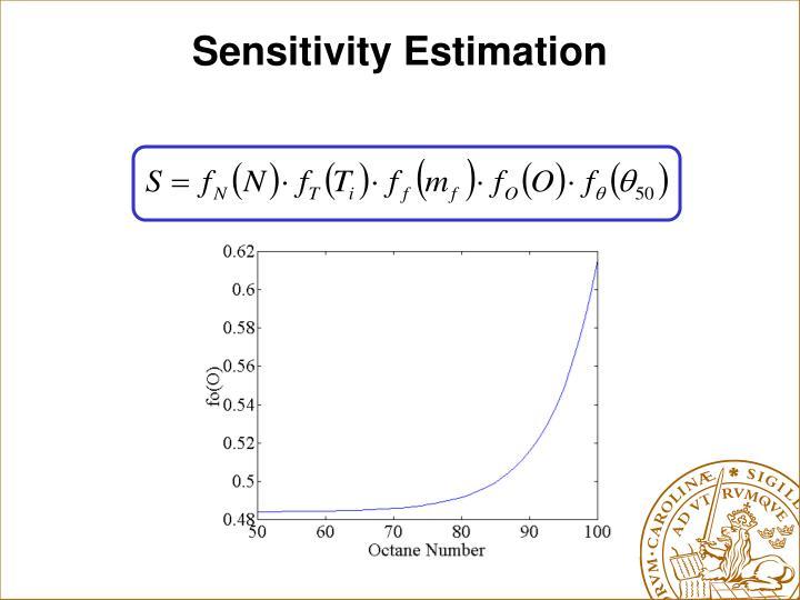 Sensitivity Estimation
