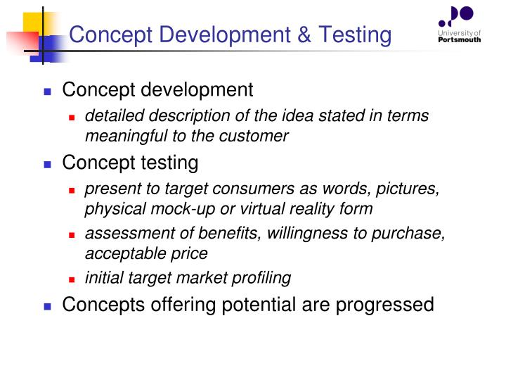 Concept Development & Testing