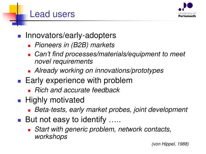 Lead users