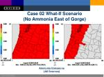 case 02 what if scenario no ammonia east of gorge
