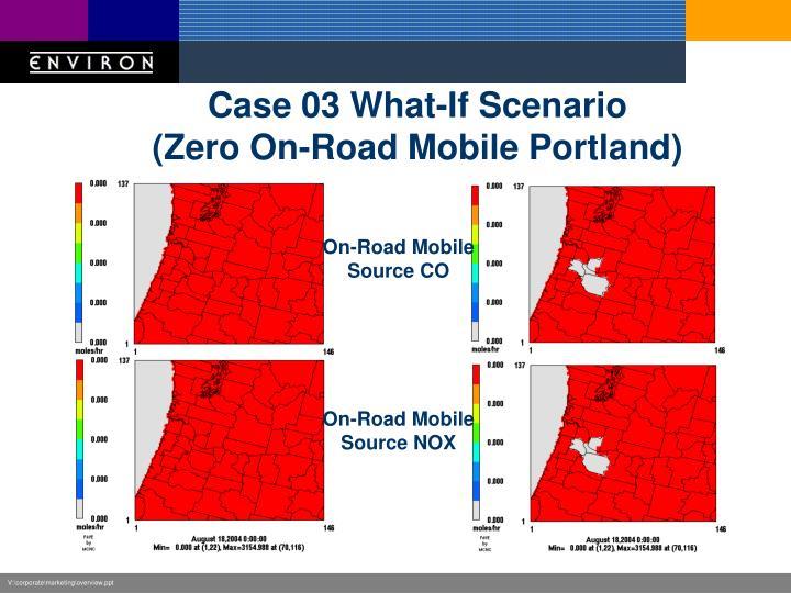 Case 03 What-If Scenario
