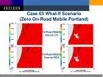 case 03 what if scenario zero on road mobile portland
