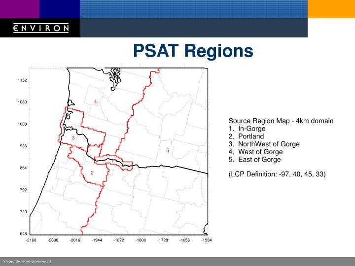 PSAT Regions