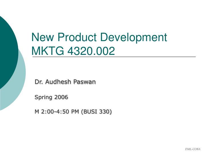 new product development mktg 4320 002