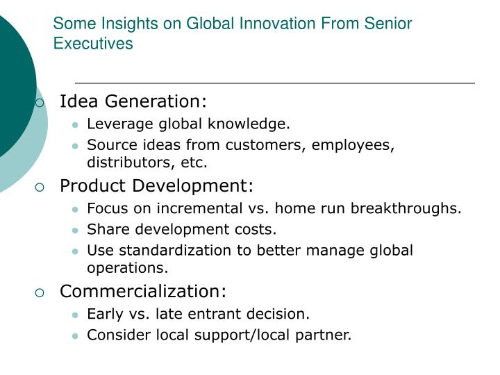 Some Insights on Global Innovation From Senior Executives