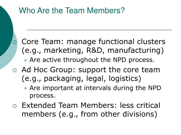 Who Are the Team Members?