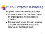 pa cair proposed rulemaking12