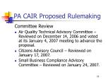 pa cair proposed rulemaking15