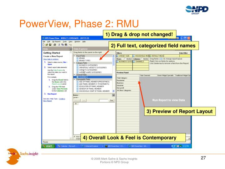 PowerView, Phase 2: RMU