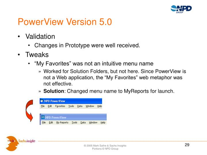 PowerView Version 5.0