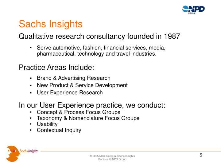 Sachs Insights