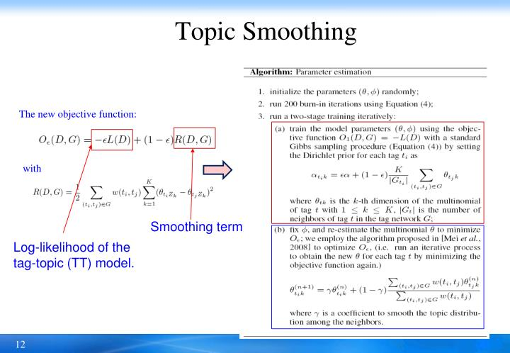 Topic Smoothing