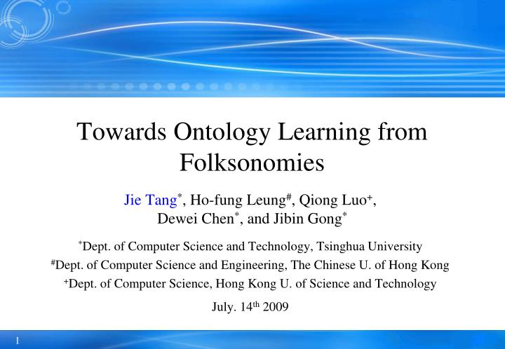 towards ontology learning from folksonomies