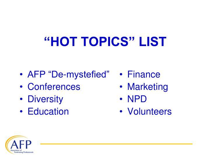 """AFP """"De-mystefied"""""""