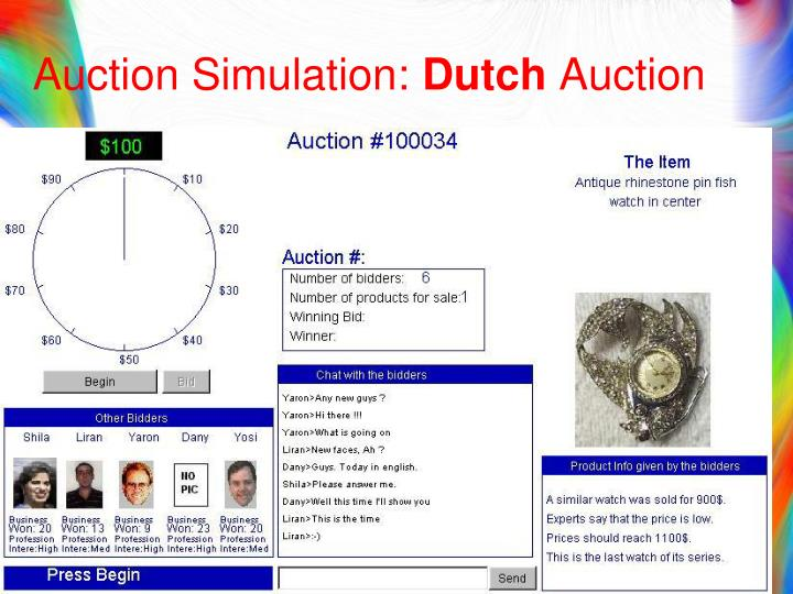 Auction Simulation: