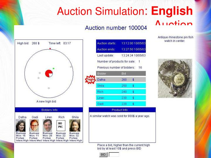 Auction Simulation