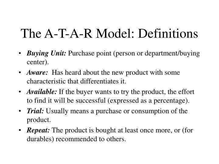 The A-T-A-R Model: Definitions