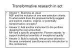 transformative research in act