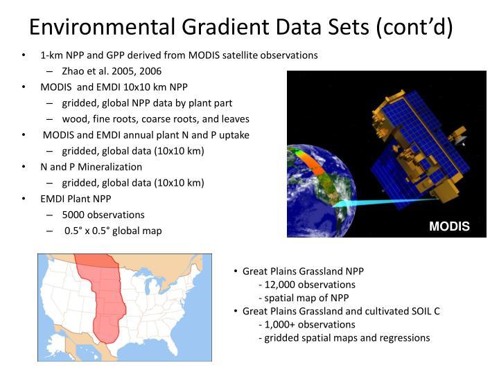 Environmental Gradient Data Sets (cont'd)