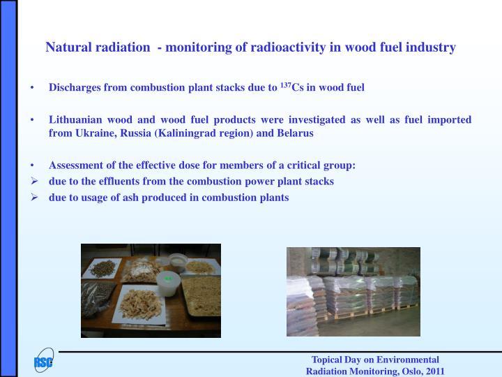 Natural radiation