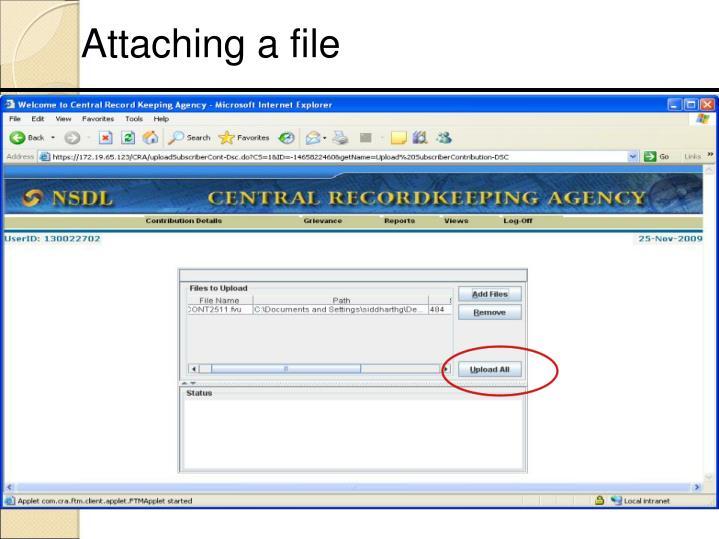 Attaching a file