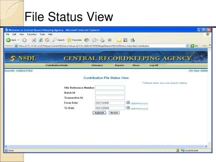 File Status View
