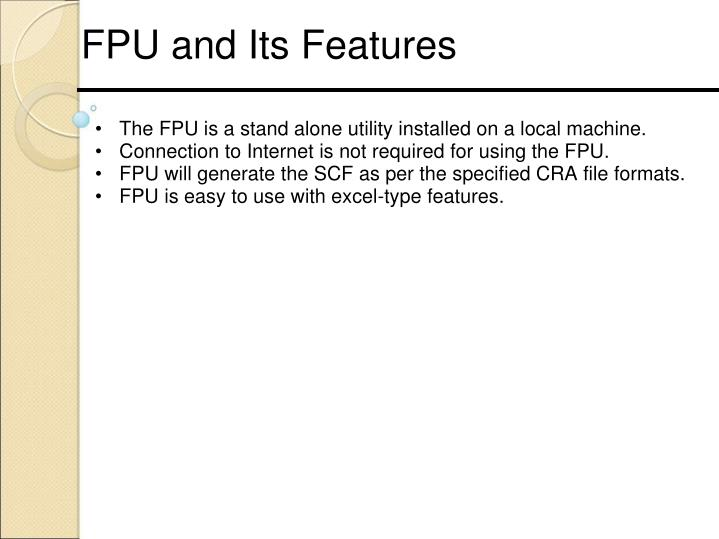 FPU and Its Features