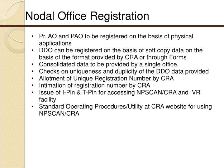 Nodal Office Registration