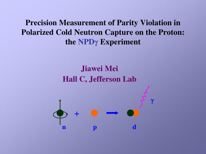 Precision Measurement of Parity Violation in