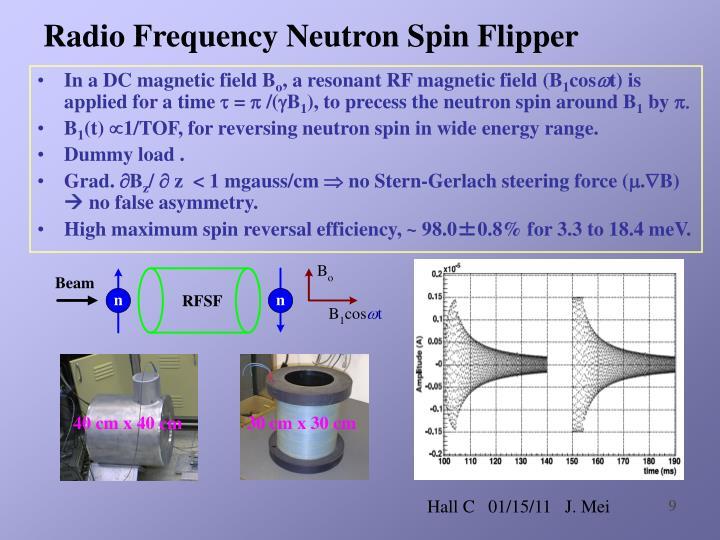 Radio Frequency Neutron Spin Flipper