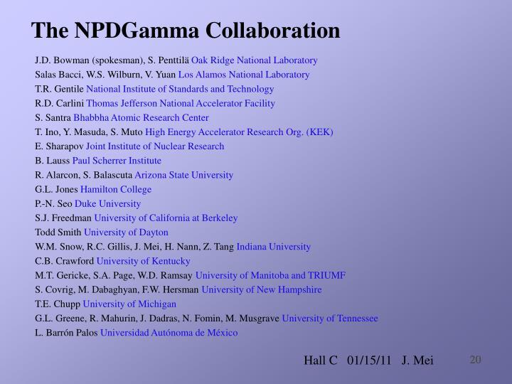 The NPDGamma Collaboration